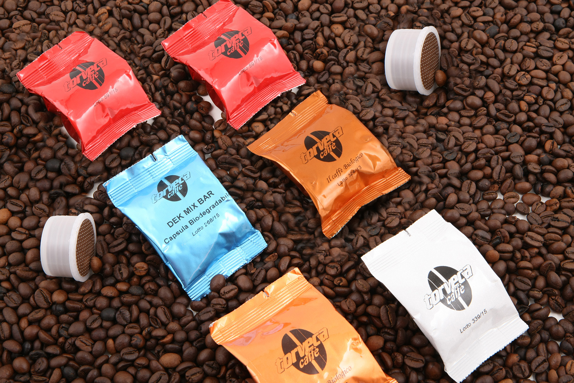 FAP capsules of organic coffee, dec, ginseng, barley and guarana