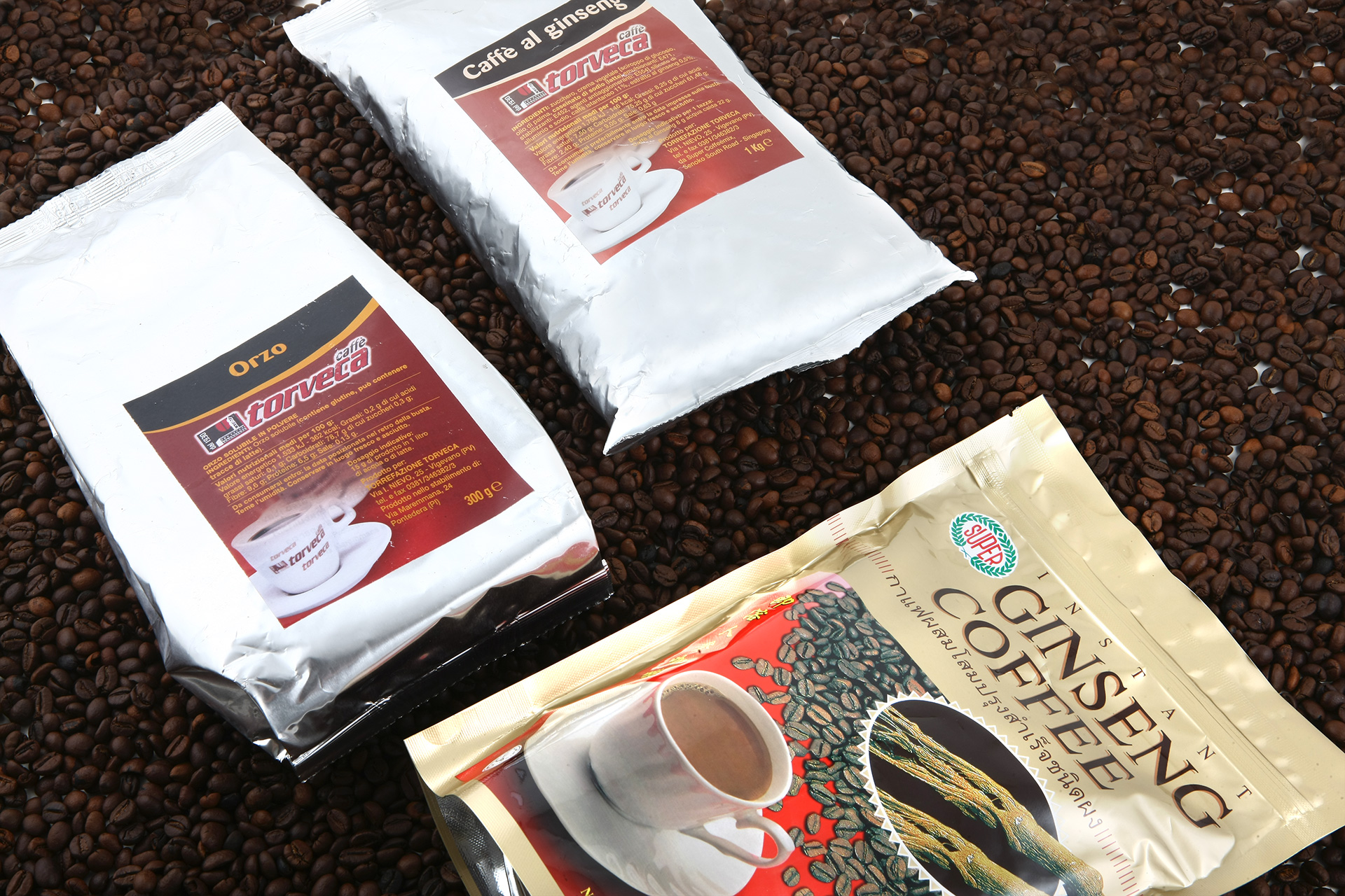 Soluble ginseng, barley coffee pods and soluble barley coffee